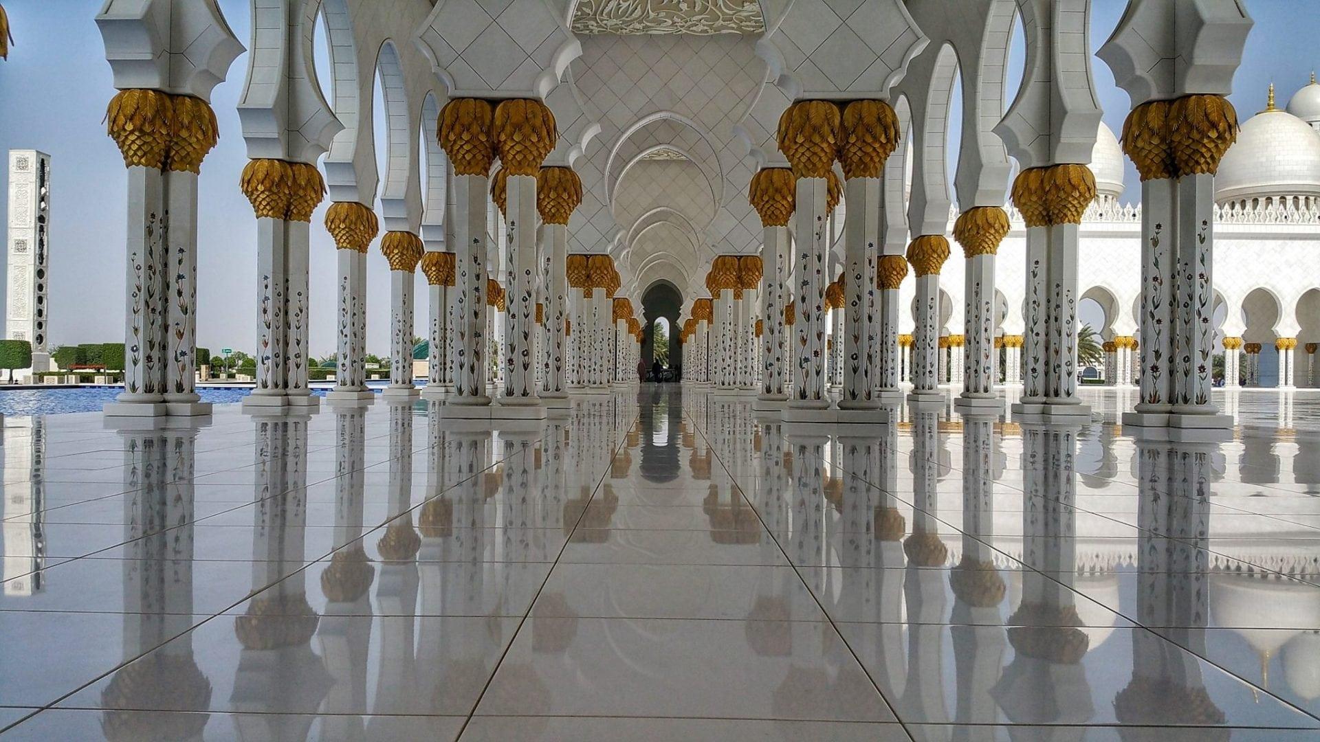 جامع الشيخ زايد - اعمدة رائعة