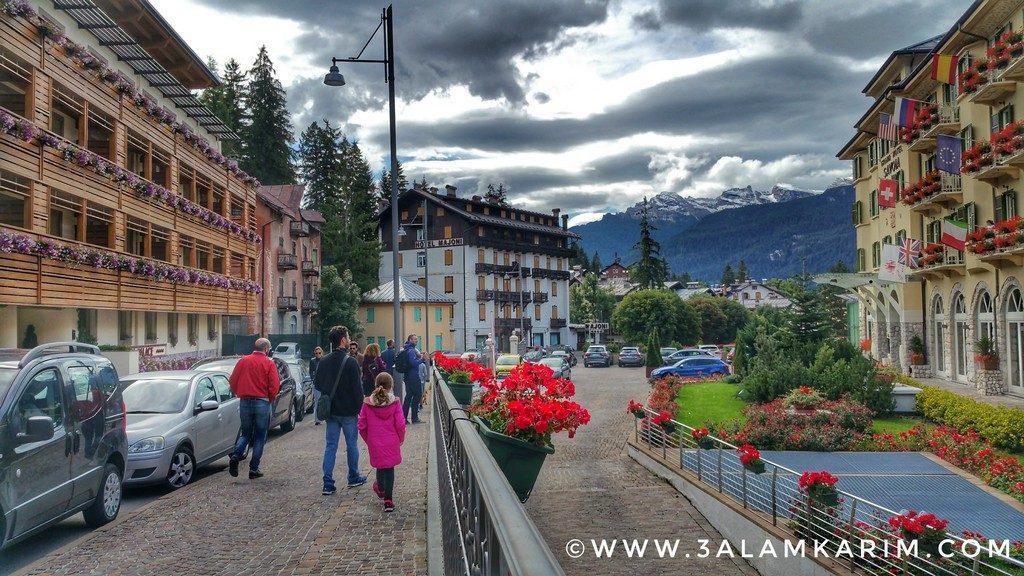 بلدة كورتينا الرائعة Cortina d'Ampezzo