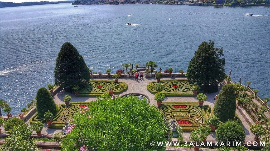 احدى الحدائق في جزيرة بيلّا Isola Bella