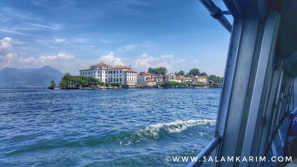 جزيرة بيلا بقصورها من السفينة