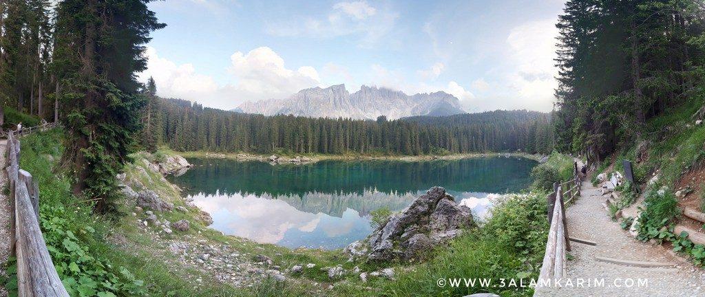 بحيرة كاريتسا Lago di Carezza (Karersee)