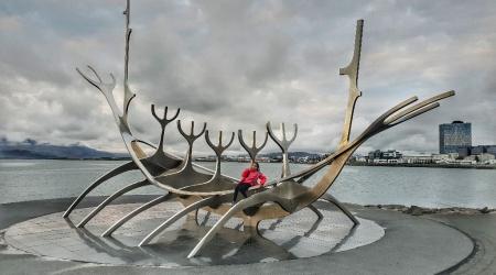 أيسلندا - مجسم Sub Voyager في Reykjavík